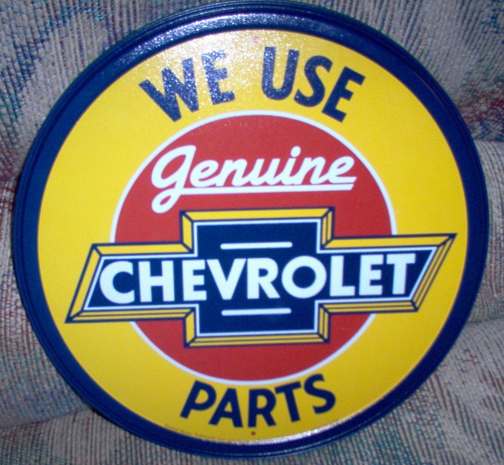 Vintage Chevy Round Genuine Parts Retro Metal Sign #1072 | Stuff to ...