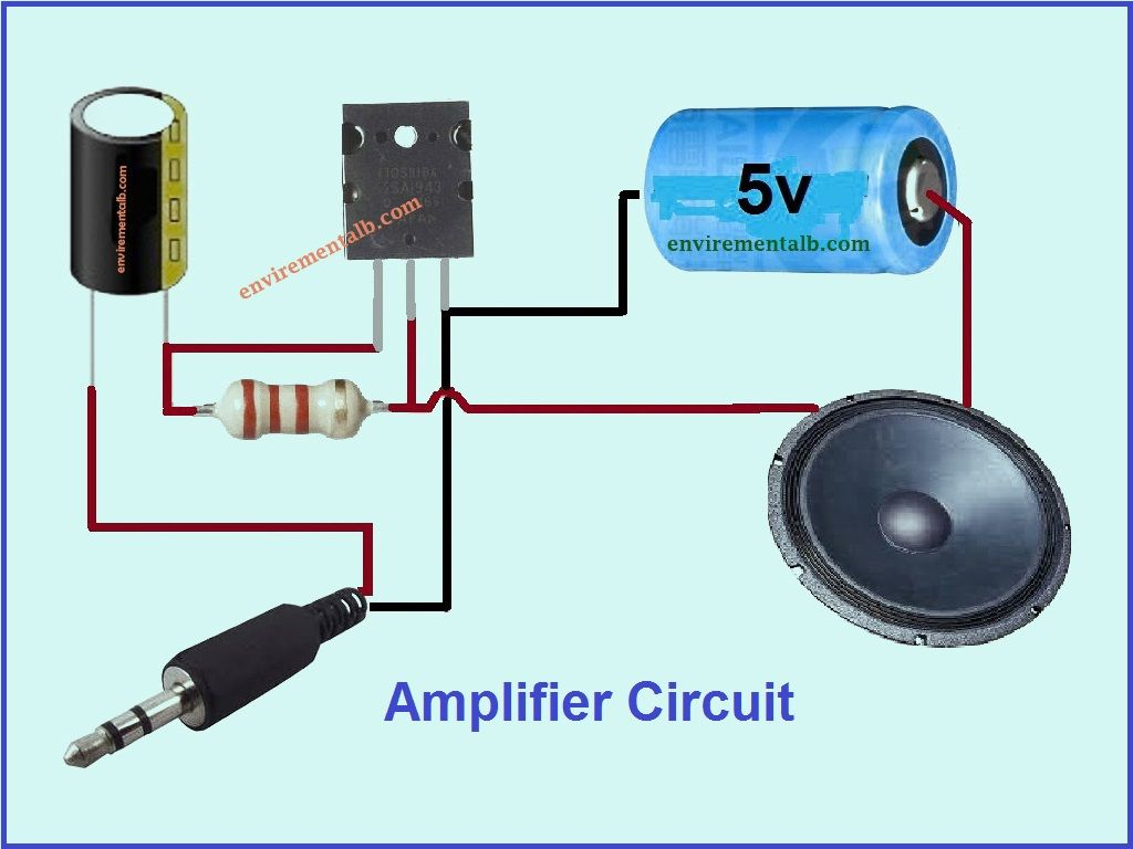 Single Transistor Amplifier Audio Amplifier Electronics Mini Projects Electronic Circuit Projects