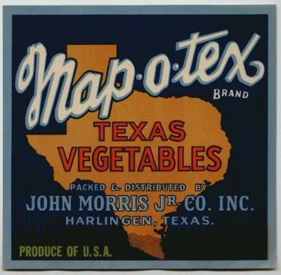Weslaco tx baseball small Safe Hit vintage Texas vegetable crate label