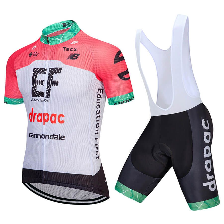 Team Ef Drapac Cannondale 2018 Cycling Jersey Light Red ... e49b180bc