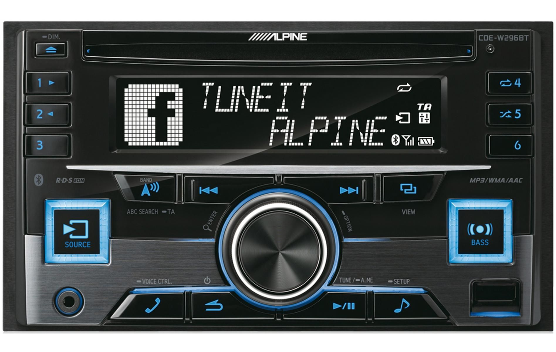 alpine cde w296bt double din car stereo with bluetooth [ 1895 x 1199 Pixel ]