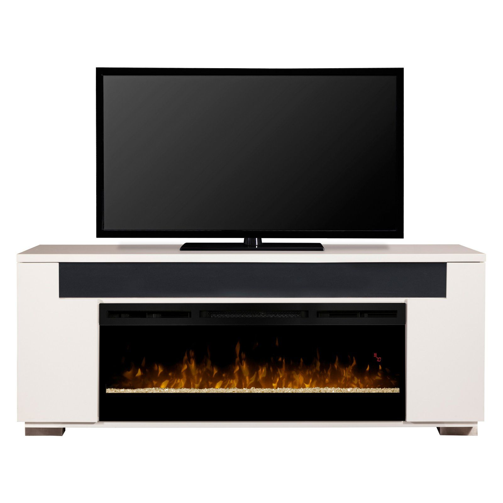 Dimplex Haley Electric Fireplace Tv Stand With Soundbar White