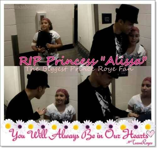 Aww He Visits Fan in the hosptail she died kf brain cancer rest in peace Alissa  ♥