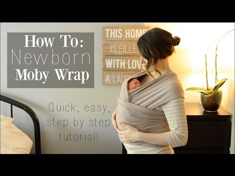 f74e543347c How To  Moby Wrap with a Newborn ♡ Newborn Hug Hold - NaturallyThriftyMom -  YouTube