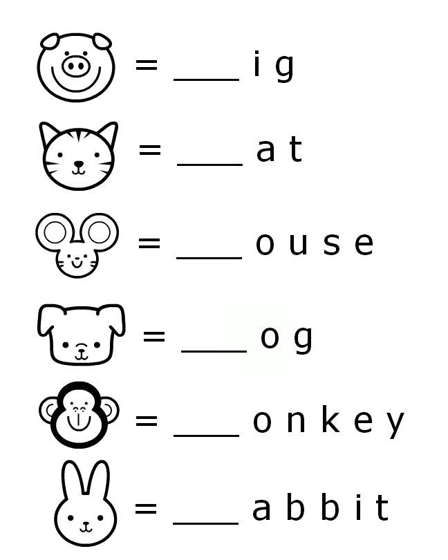 Beginning Sounds Letter Worksheets for Early Learners | Literacy ...