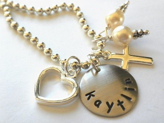 Flower Girl Necklace Personalized for your FLOWER by LillyEllen, $20.00