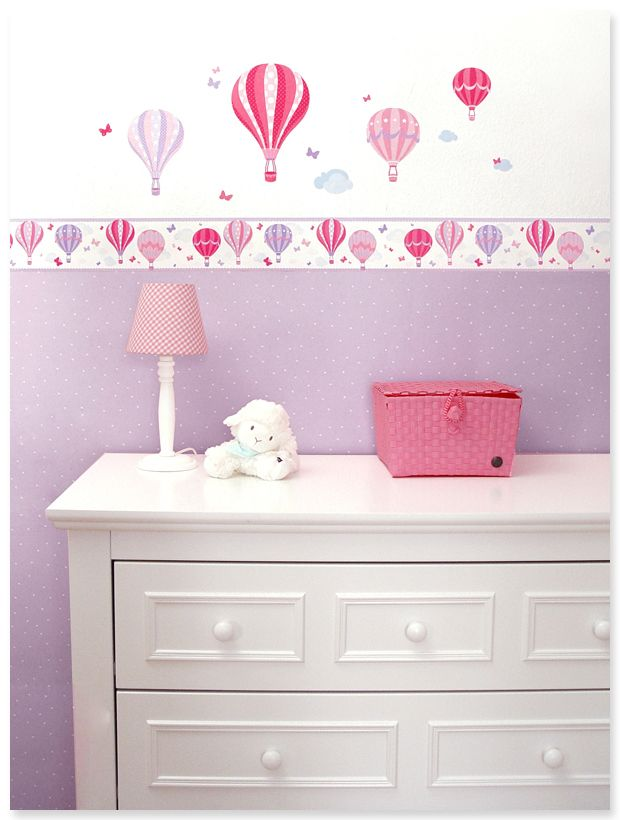 hoch hinaus verspielte wandgestaltung in pink lila und rosa von dinki balloon f r ein. Black Bedroom Furniture Sets. Home Design Ideas