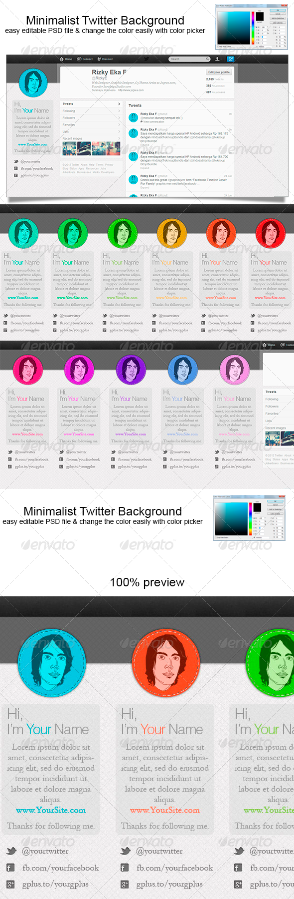 Minimalist Twitter Background Twitter Backgrounds Template And