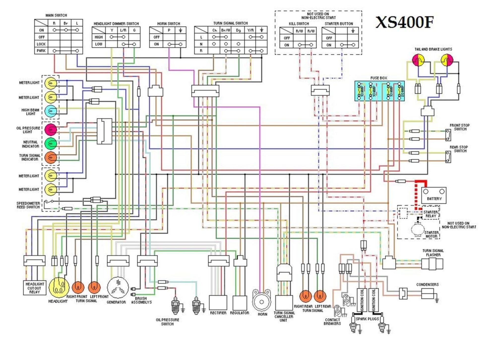 xs400f    wiring       diagram       diagram     motorcycle    wiring     xs400f    wiring       diagram       diagram     motorcycle    wiring