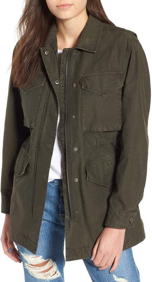 6f022f97d62a8 Levi's Cotton Oversize Military Jacket | Those Jeans, That Shirt ...