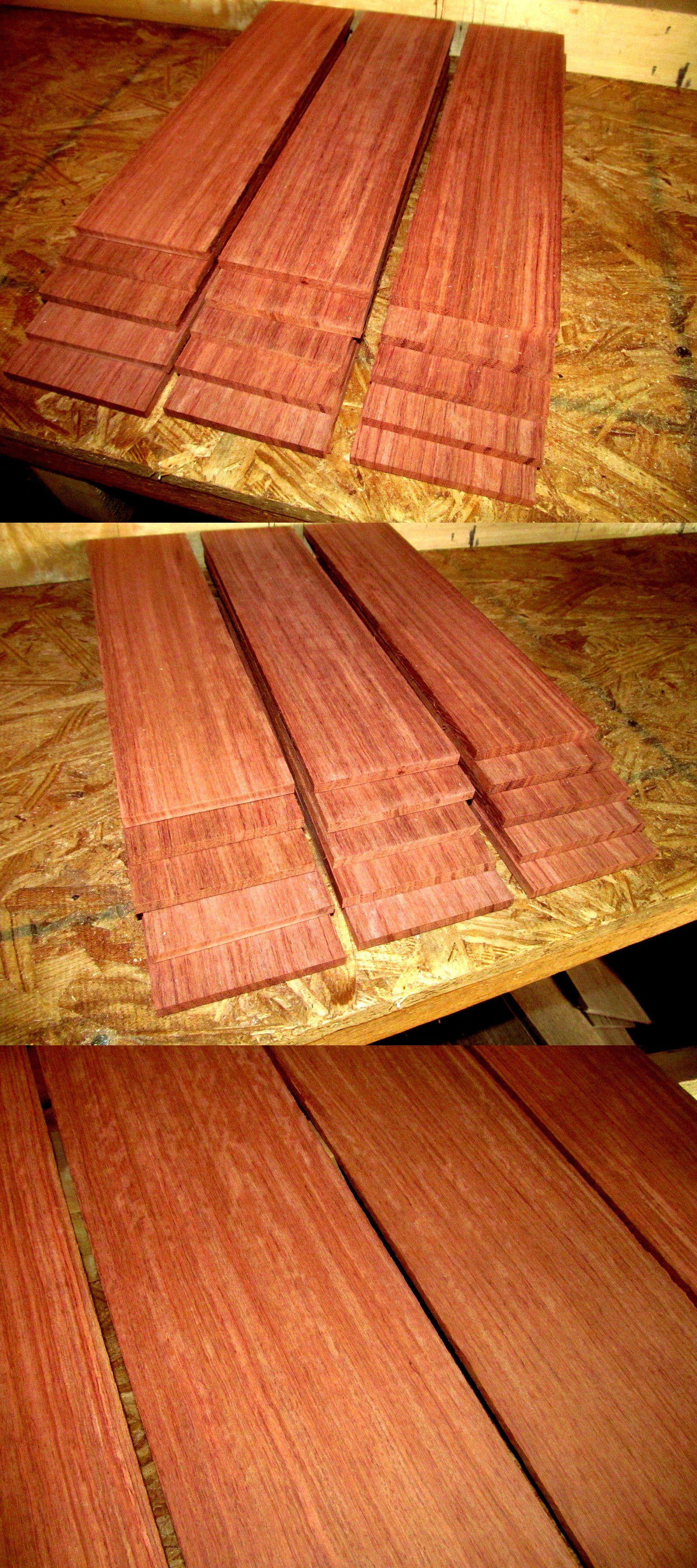 Woodworking Lumber 84011 Sixteen 16 Beautiful Sanded Kiln Dried Thin Pieces Bubinga Wood 12 X 3 X 1 4 Buy It Now Only 39 95 On Wood Bubinga Woodworking