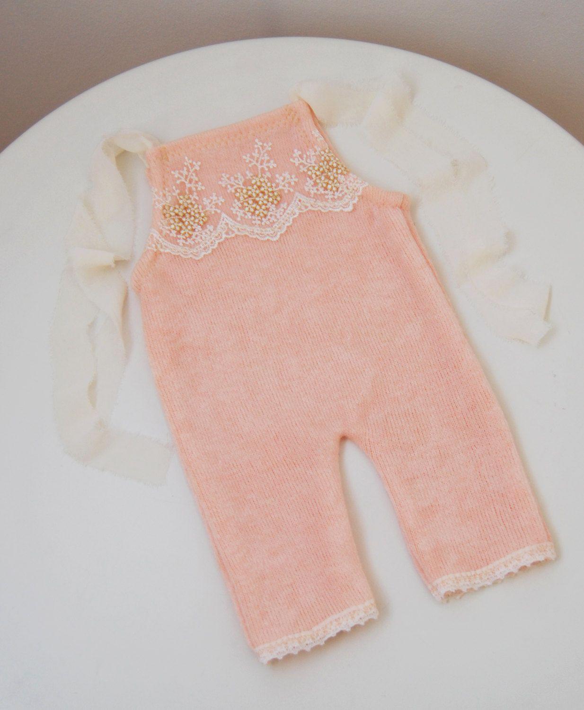 Newborn romper; Newborn Girl Romper; Baby Girl Romper; Light Coral ...