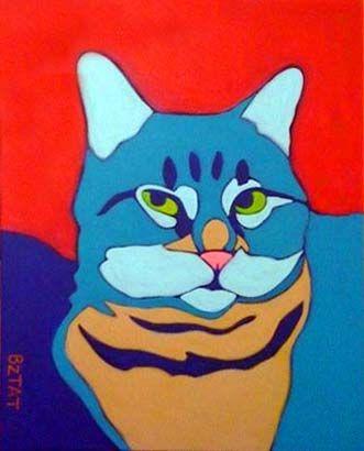 Murphy - Premiere Custom Pet Portrait Painting by BZTAT. (More at www.bztat.com)