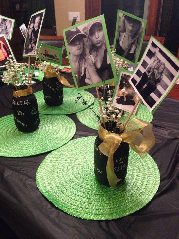 47 Graduation Party Decorations Centerpieces Mason Jars silahsilah.com/…