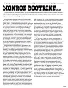 Worksheets Monroe Doctrine Worksheet monroe doctrine worksheet pixelpaperskin collection of sharebrowse