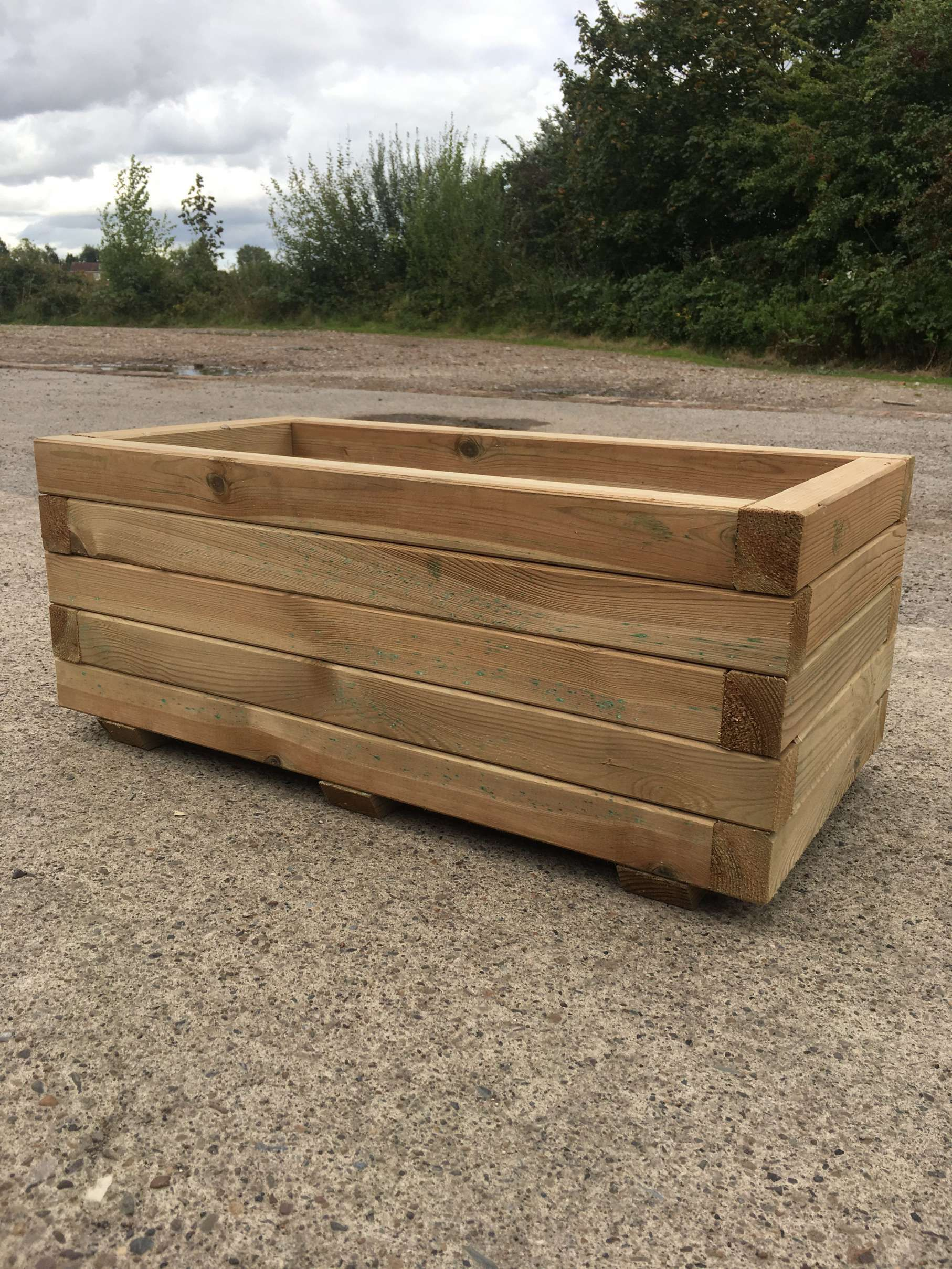 10 Fantastic Wooden Trough Planter Gallery Wooden Wooden House