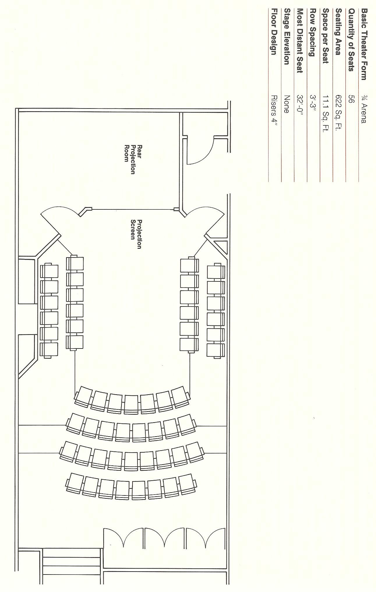 An Auditorium Seating Layout Template  Auditorium  Fixed