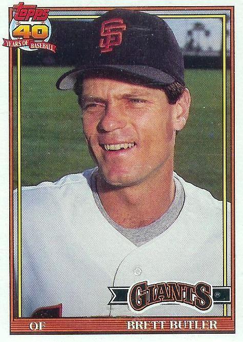 1991 Topps 325 Brett Butler Giants Mint Sfgiants