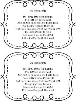 handprint poem freebie from kindergartencouture on 2 pages handprint. Black Bedroom Furniture Sets. Home Design Ideas
