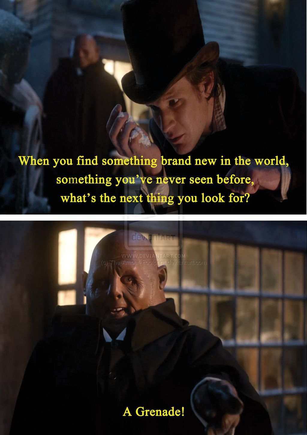 Doctor Who Quotes About Love Yep Potato Guy Wants A Grenade Doctor Who  Pinterest