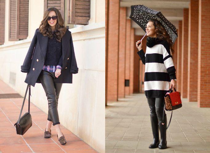4 maneras de combinar leggins de polipiel en tus looks