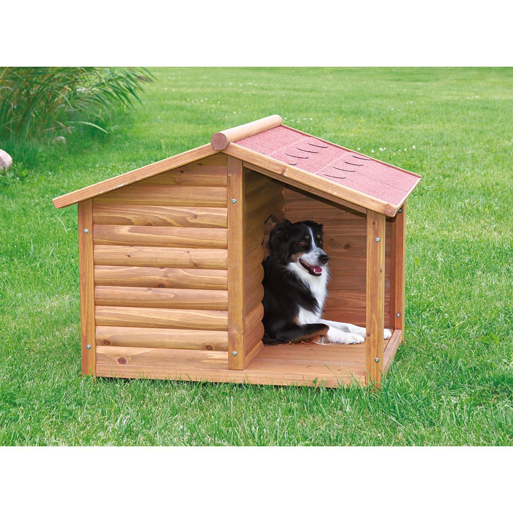 Trixie S Rustic Dog House Size 25 L X 35 25 W X 32 25 H Brown