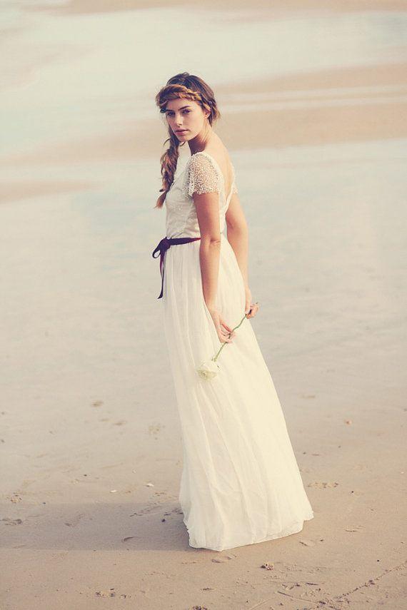 Atemberaubende Perlen begrenzt Ärmel Brautkleid von Graceloveslace ...