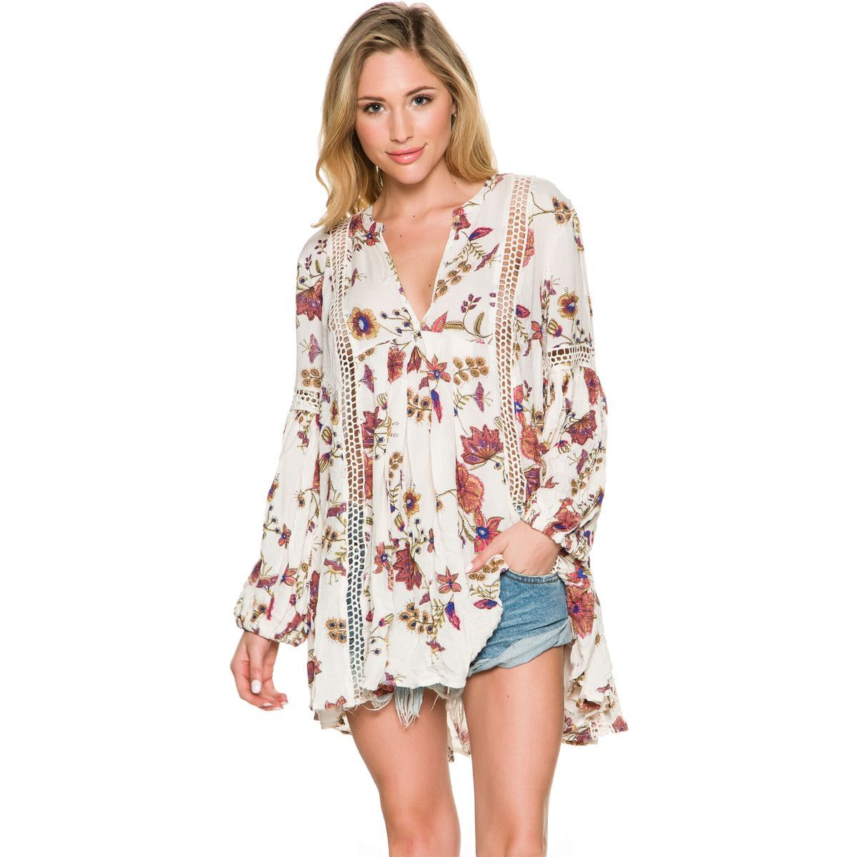 c37c40fdcb3 Free People Just The Two Of Us Printed Tunic. Women's tunic top. Relaxed fit