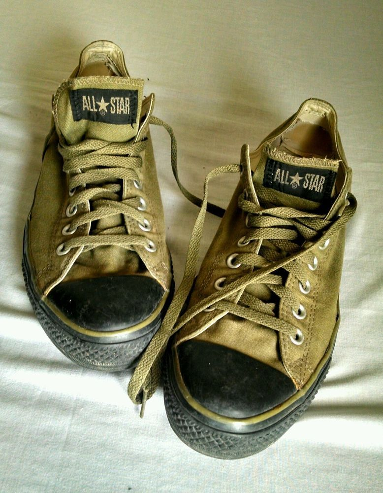 CONVERSE All-Star Olive Green   Black sole Shoes Mens Size 11 Womens 13    Army  ConverseAllStar  AthleticSneakers  39.99 OBO e4a9f046a8
