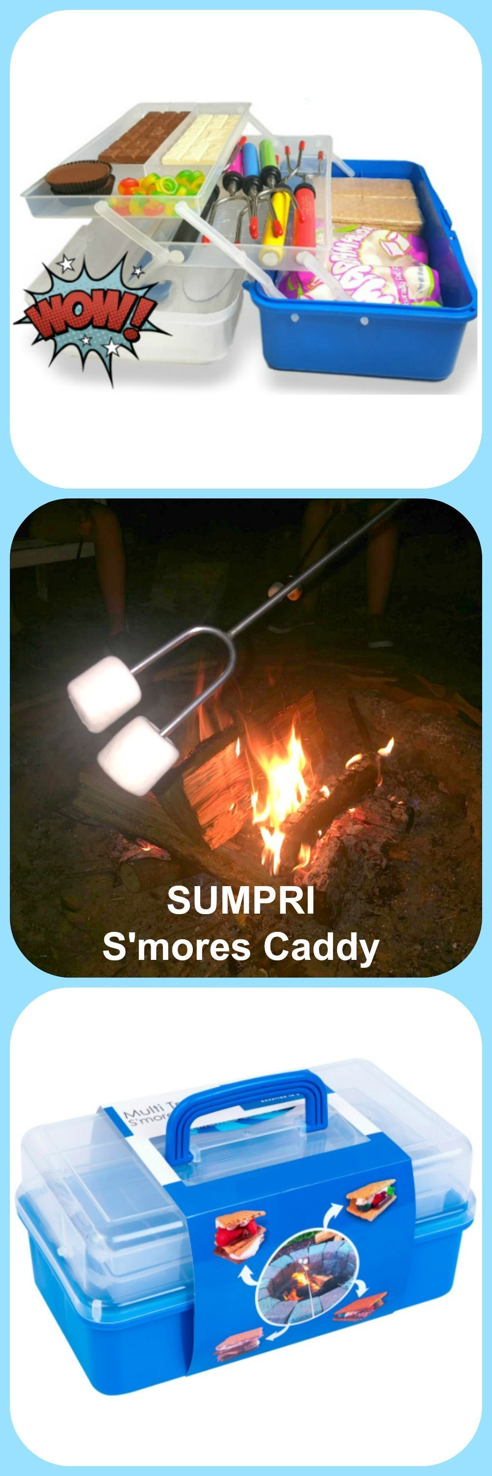 SUMPRI S'mores Caddy, Keep Your Marshmallows & Roasting Sticks All In The Same Place, now on Amazon.com or Sumpri.com . . . . . . . .  #sumpri #marshmallow #roasting #sticks #s'mores #smores #s'morescaddy #smoressticksforfirepit #firepit #smoresskewers #firepitaccessories #campfireskewers #s'moressticks #hotdogforks #marshmallowroastingtelescoping #campfiresticks #telescopingskewers #collapsibleroastingsticks #smoressticks SUMPRI S'mores Caddy, Keep Your Marshmallows & Roasting Sticks All In The #marshmallowsticks