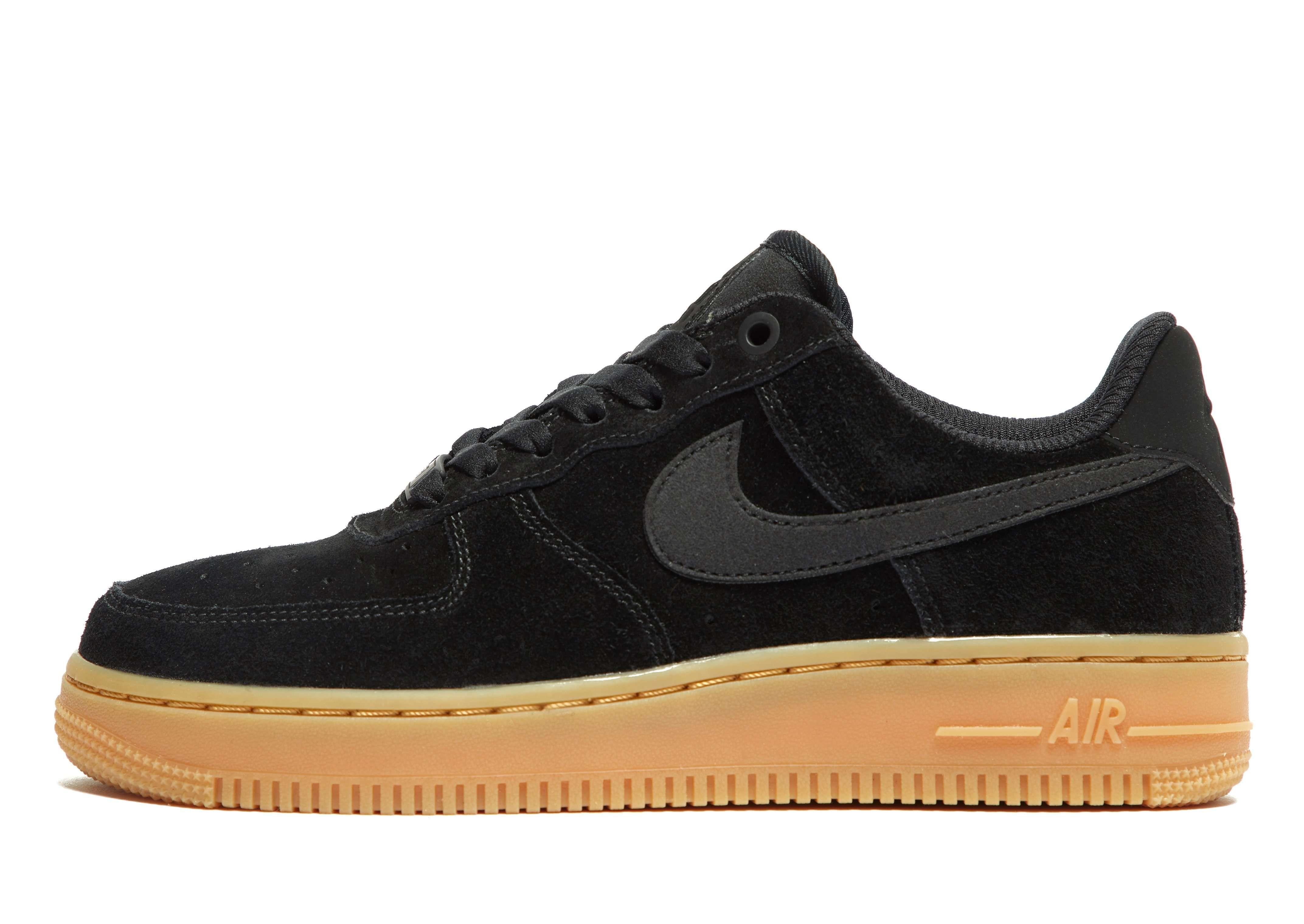 Nike Air Force 1 Low Black Royal Gum In Blackwhite gum Medium Brown game Royal