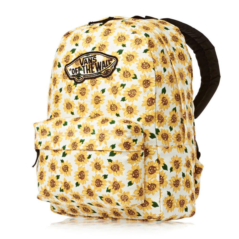 Resultado de imagen de mochila vans girasoles | Mochilas