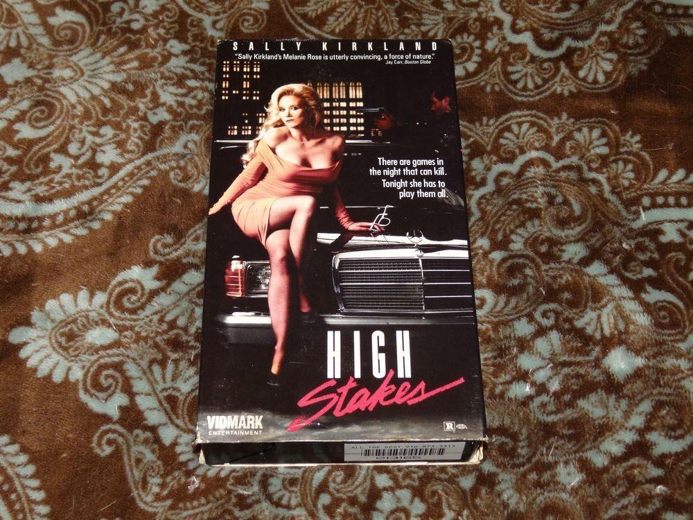 High Stakes (VHS, 1989) OOP 1st Vidmark/Sally Kirkland T&A Thriller *NOT ON DVD*