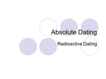 Dating atoms