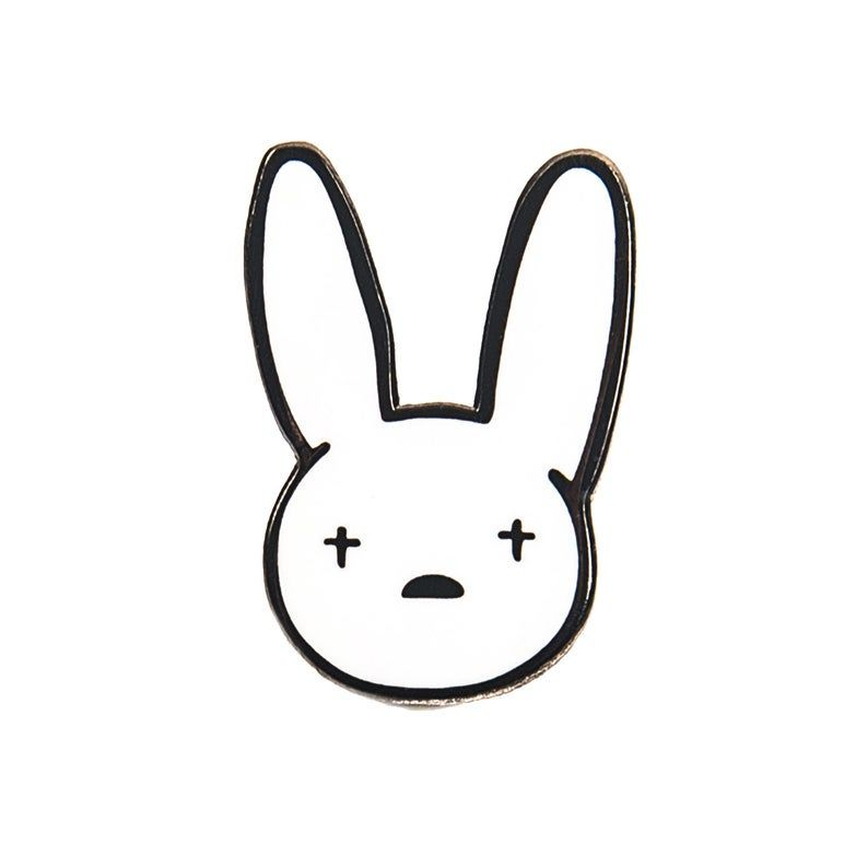 Bad Bunny Yhlqmdlg Pin Hard Enamel Pin Cute Enamel Pin Etsy Bunny Tattoos Bunny Wallpaper Bunny Drawing