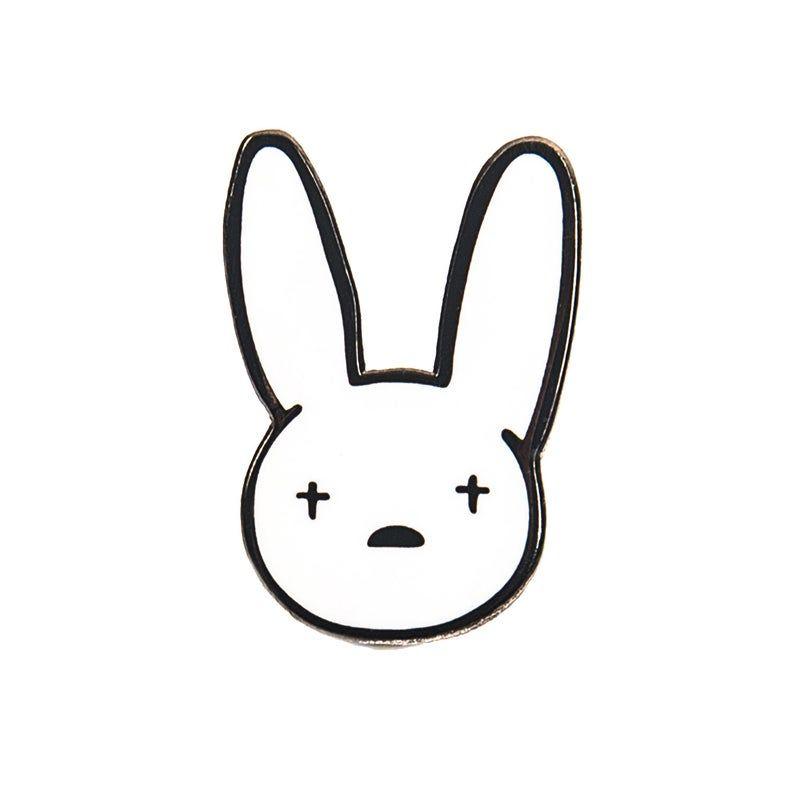 Bad Bunny Yhlqmdlg Pin Hard Enamel Pin Cute Enamel Pin Etsy Bunny Tattoos Bunny Wallpaper Bunny Drawing