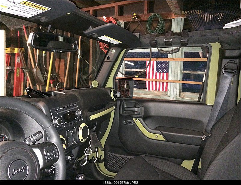 Color Matched Interior Accents Jeep Interiors Green Jeep Green