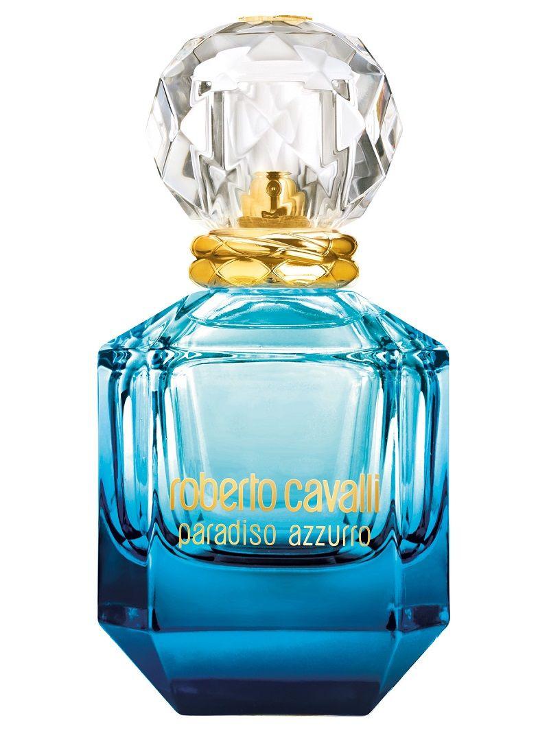Roberto Cavalli Paradiso Azzurro Is A Luminous Celebration Of The Beauty Of The Mediterranean Coast It Blends Soft And De In 2020 Fragrance Roberto Cavalli Perfume Perfume