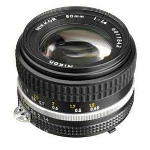 Nikon Nikkor 50mm F 1 4 Ais Manual Focus Lens Nikon 50mm Dslr Lenses Nikon Camera Lenses