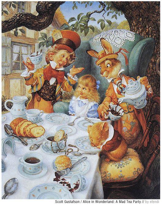 Scott Gustafson ~ Alice's Tea Party