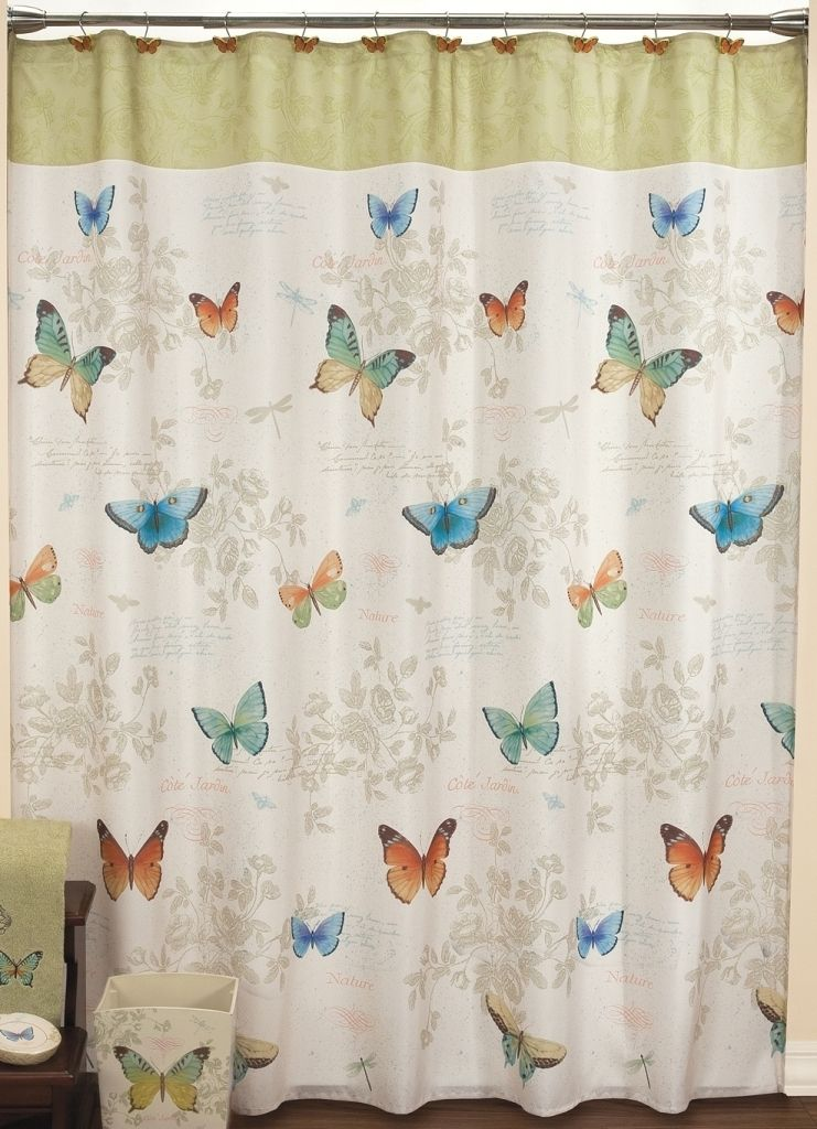 Butterfly Bliss Shower Curtain Bathroom Accessories Butterfly