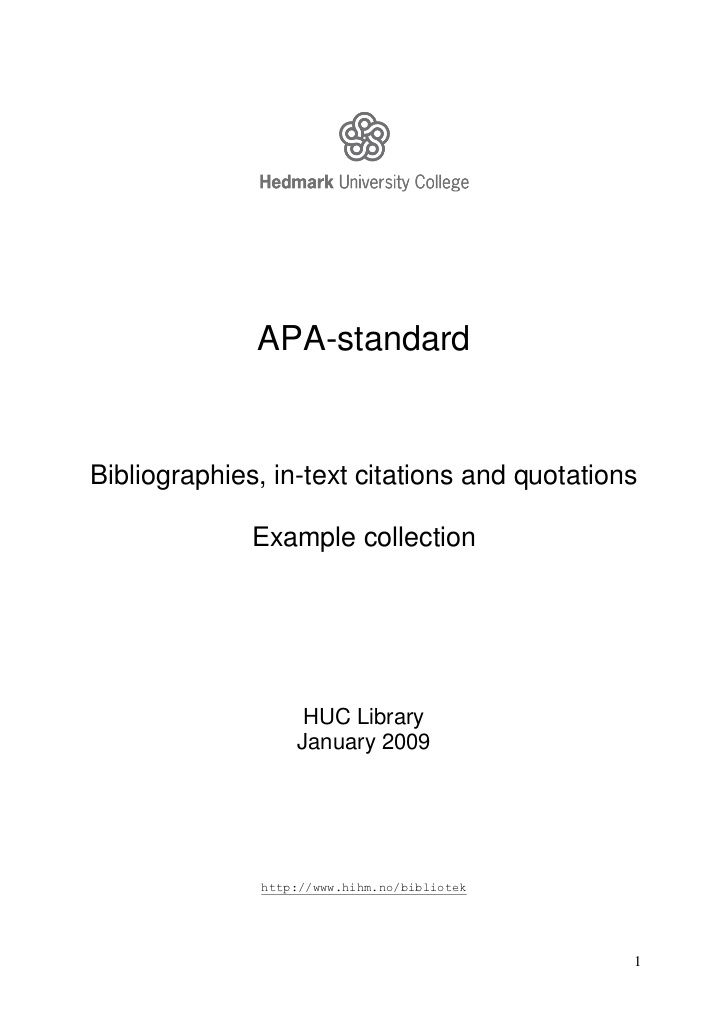 apa standardbibliographies text citations and quotations example - book report cover page template