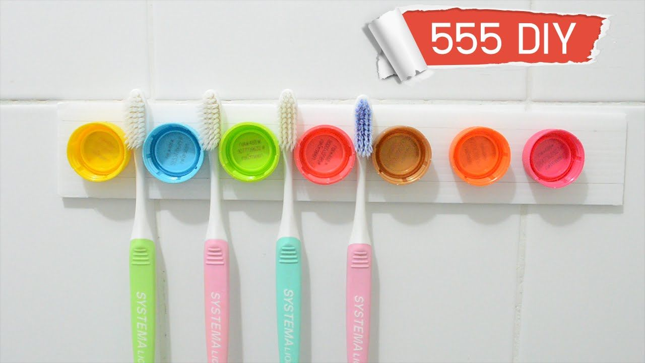 Diy Toothbrush Holder Idea From Bottle Caps Diy Pinterest Diy