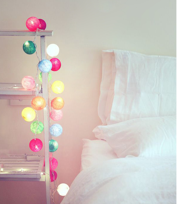 turchese chiaro turchese chiaro turchese Cotton Ball Lights Wasser Aqua-Catena luminosa a 10 LED con connettore USB Bianco