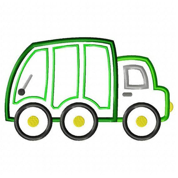 Instant Download Trash Truck Machine Embroidery Applique Etsy Bordado Aplique A Maquina Camion De Basura Apliques Bordados
