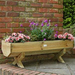 Garden Planter Large Wooden Trough Pot Flower Garden Plant Patio