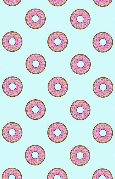 Cartoon Donuts Blue Sky Pattern Art Print By Rexlambo Society6 Pink Donuts Wallpaper Pattern Art Donut Cartoon
