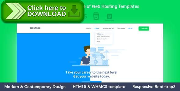 themeforestfree nulled download hostino whmcs web hosting wordpress theme from httpzippyfiledownloadfphpid15406 tags blue brandio clean