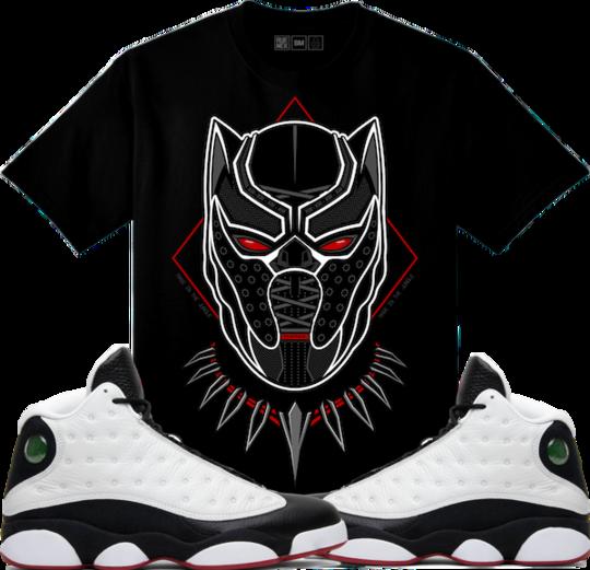 0db5543c9ed Original Rufnek T-Shirt Jordan 13 He Got Game Sneaker Tees Shirt - BLACK  PANTHER #Sneakers