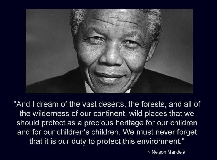 Fb Nelson Mandela And Quote Via Tongabezi Save Virunga Education